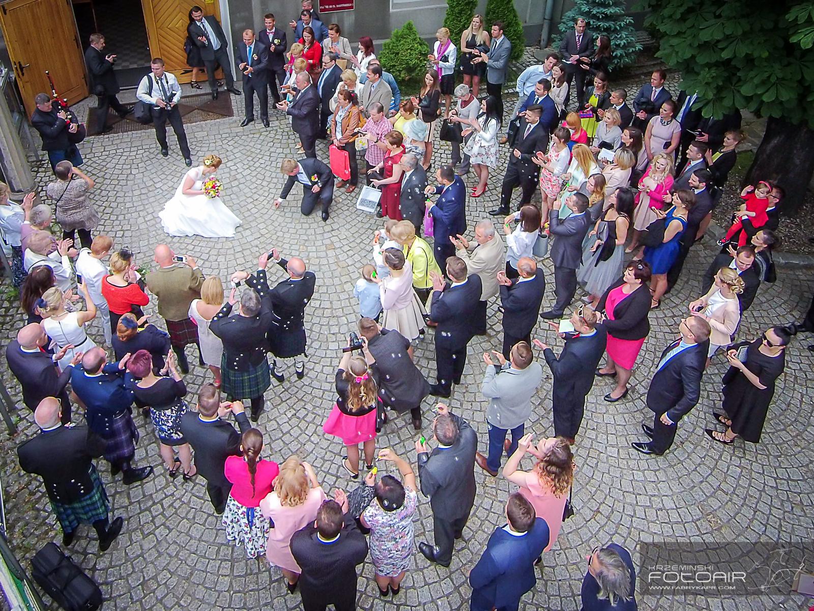 Zdjęcia ślubne z powietrza